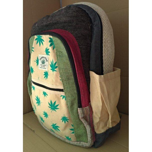 Himalayan Hampe rygsæk ( Hampblade, Grøn, Rød, Grå, Råhvid, blå )